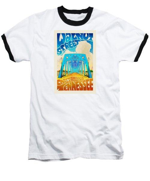 Walnut Street Poster Baseball T-Shirt by Steven Llorca