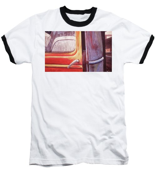 Baseball T-Shirt featuring the painting Walter by Laurie Stewart