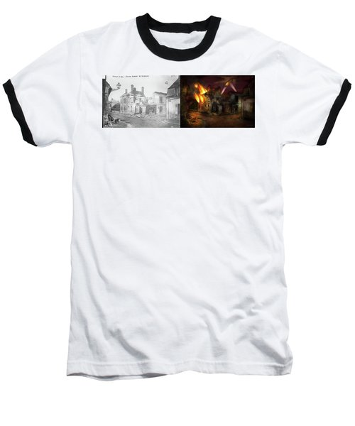 Baseball T-Shirt featuring the photograph War - Wwi -  Not Fit For Man Or Beast 1910 - Side By Side by Mike Savad