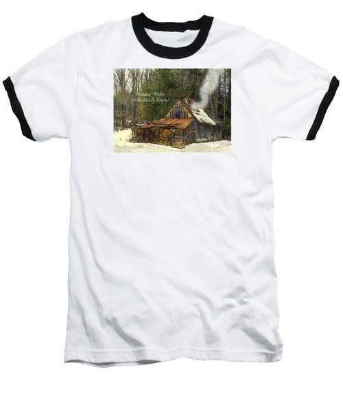 Baseball T-Shirt featuring the photograph Warmest Wishes For The Holiday Season Greeting Card by Betty Denise