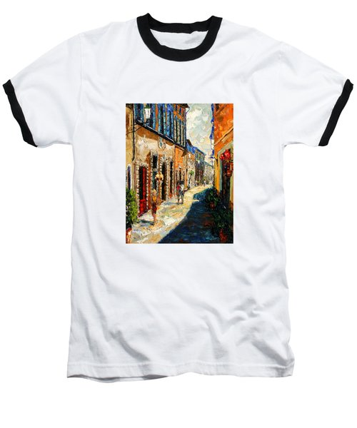 Warmth Of A Barcelona Street Baseball T-Shirt by Andre Dluhos