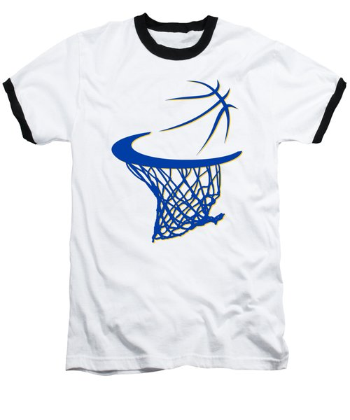 Warriors Basketball Hoop Baseball T-Shirt by Joe Hamilton