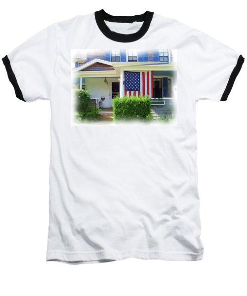 Watch Hill Ri Cottage Baseball T-Shirt by Joan Hartenstein