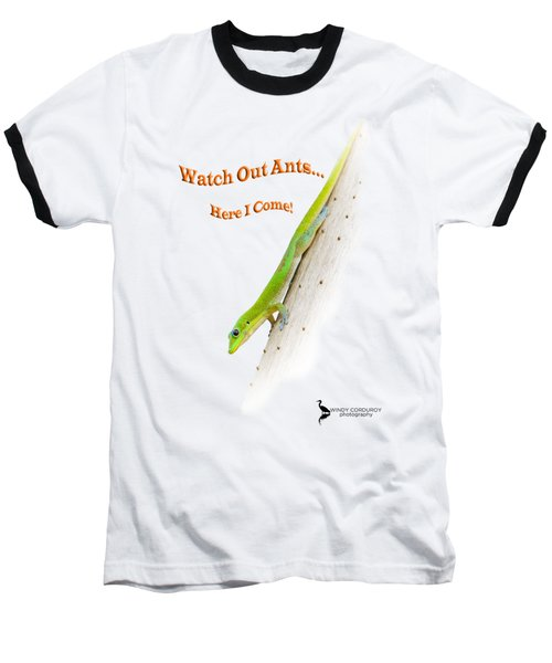 Watch Out Ants...here I Come Baseball T-Shirt by Windy Corduroy