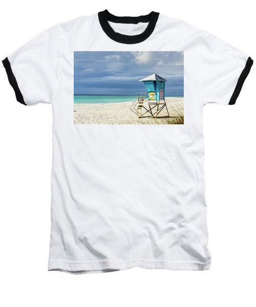 Lifeguard Tower Florida Gulf Coast Baseball T-Shirt