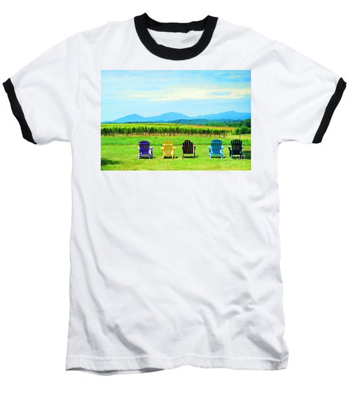 Watching The Grapes Grow Baseball T-Shirt