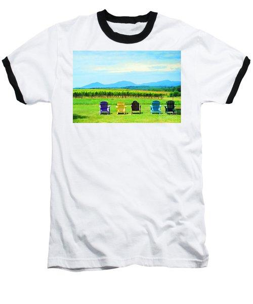 Watching The Grapes Grow Baseball T-Shirt