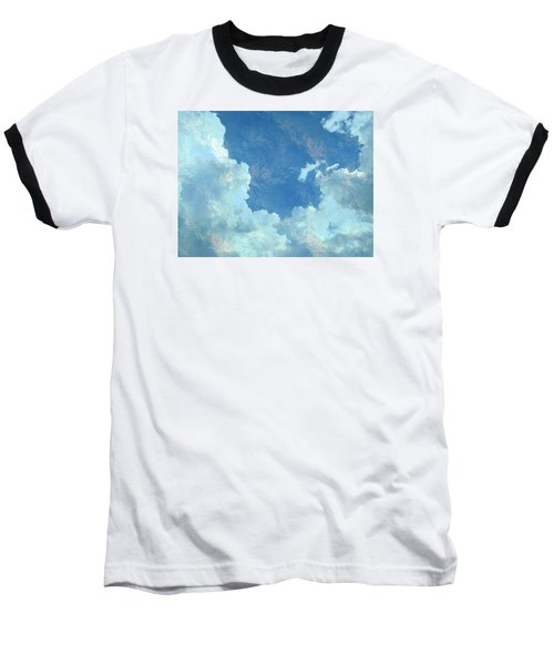 Baseball T-Shirt featuring the photograph Water Clouds by Robin Regan