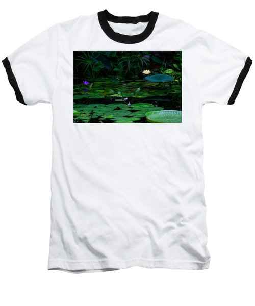 Water Lilies In The Pond Baseball T-Shirt