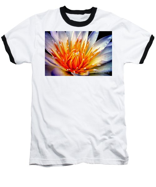 Water Lily Flower Baseball T-Shirt