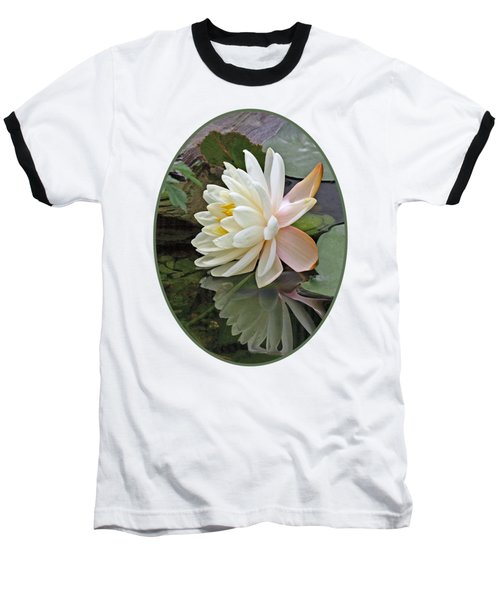 Water Lily Reflections Baseball T-Shirt by Gill Billington