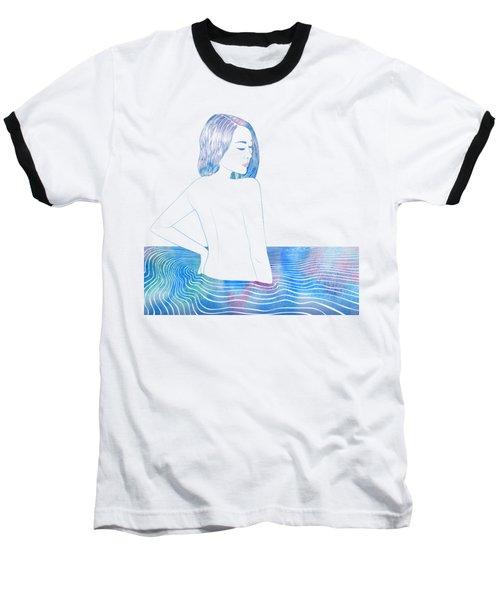 Water Nymph Lxxxiv Baseball T-Shirt by Stevyn Llewellyn