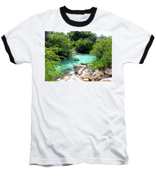 Baseball T-Shirt featuring the photograph Water Shallows by Francesca Mackenney