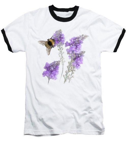 Watercolor Bumble Bee Baseball T-Shirt by Ivana Westin