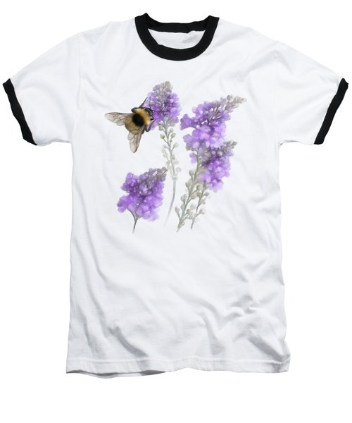 Watercolor Bumble Bee Baseball T-Shirt