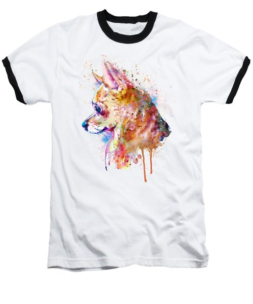 Watercolor Chihuahua  Baseball T-Shirt