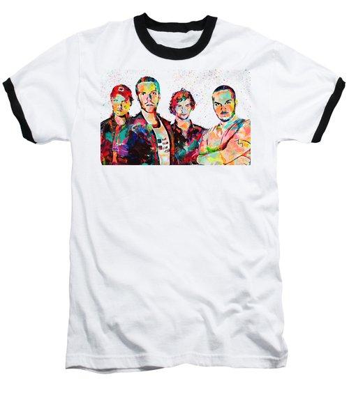 Watercolor Coldplay Baseball T-Shirt