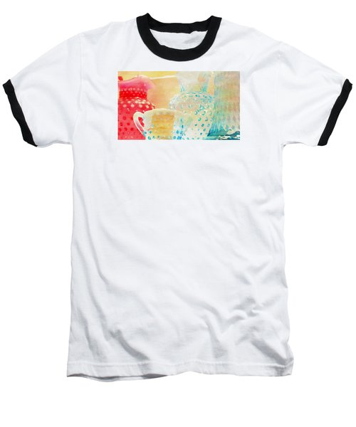 Watercolor Glassware Baseball T-Shirt by Bonnie Bruno