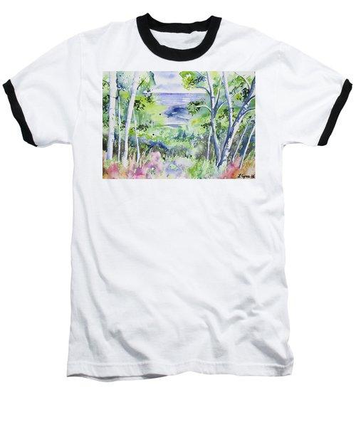 Watercolor - Lake Superior Impression Baseball T-Shirt