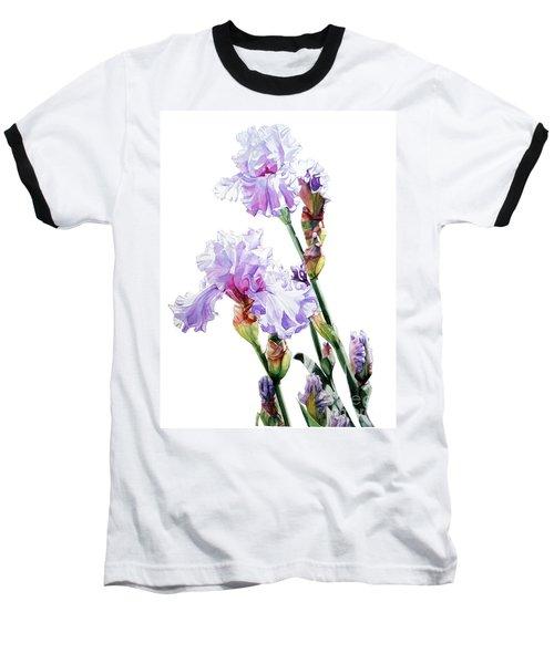 Watercolor Of A Tall Bearded Iris I Call Lilac Iris Wendi Baseball T-Shirt