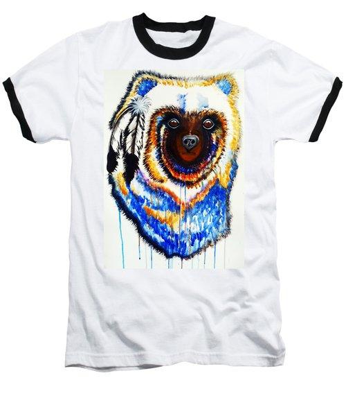 Watercolor Painting Of Spirit Of The Bear By Ayasha Loya Baseball T-Shirt