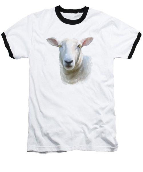 Watercolor Sheep Baseball T-Shirt