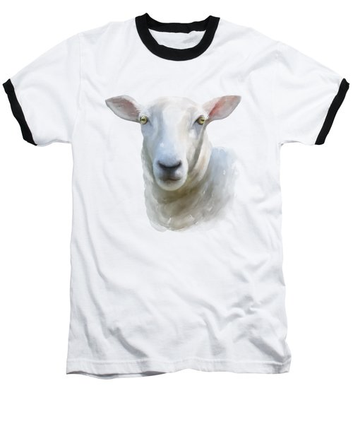 Baseball T-Shirt featuring the painting Watercolor Sheep by Ivana Westin