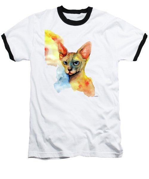 Watercolor Sphynx 2 Baseball T-Shirt