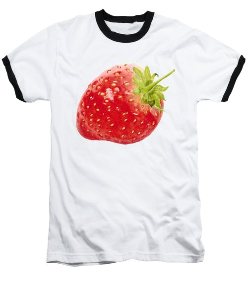 Watercolor Strawberry Baseball T-Shirt
