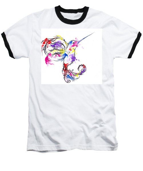 Watercolour Hummingbird Baseball T-Shirt