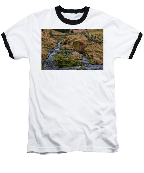 Baseball T-Shirt featuring the photograph Waterfall At Glendevon In Scotland by Jeremy Lavender Photography