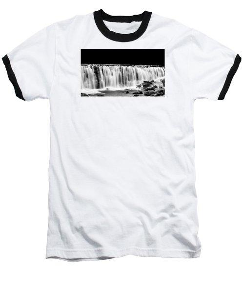 Waterfall At Night Baseball T-Shirt by Wayne King