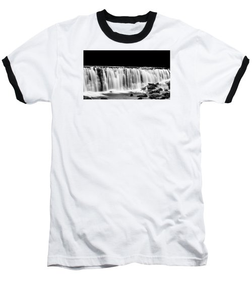 Waterfall At Night Baseball T-Shirt
