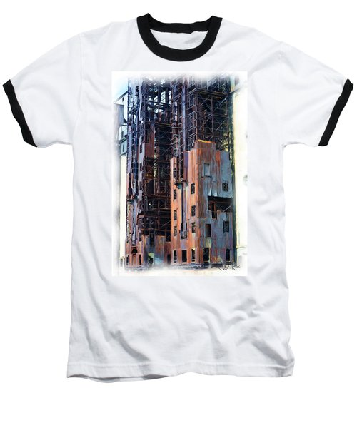 Waterfront Decay One Baseball T-Shirt