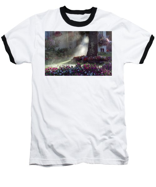 Watering The Lawn Baseball T-Shirt by Keith Boone