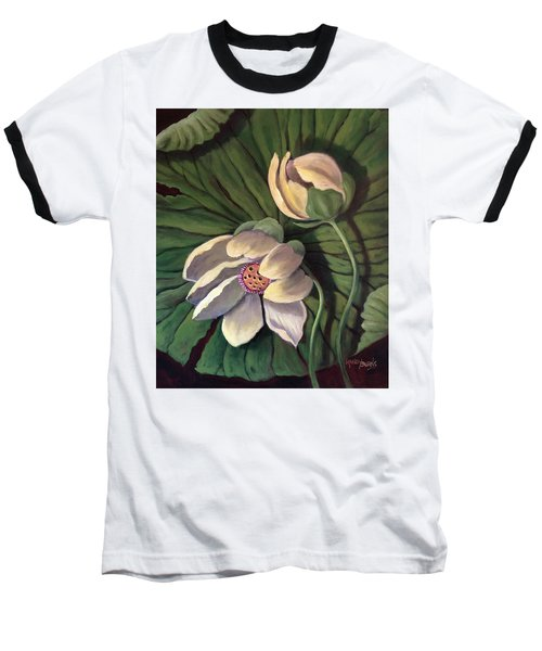 Waterlily Like A Clock Baseball T-Shirt