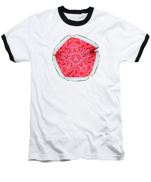 Watermelon Star Wheel Baseball T-Shirt