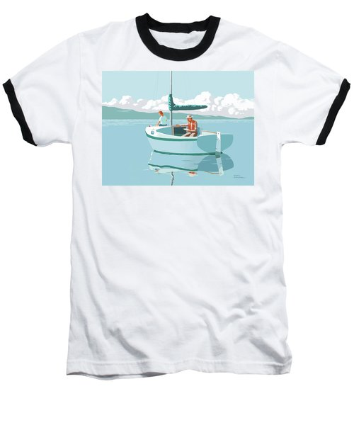 Wating For The Wind Baseball T-Shirt