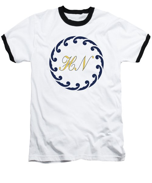 Wave Ring And Yellow Cipher Baseball T-Shirt