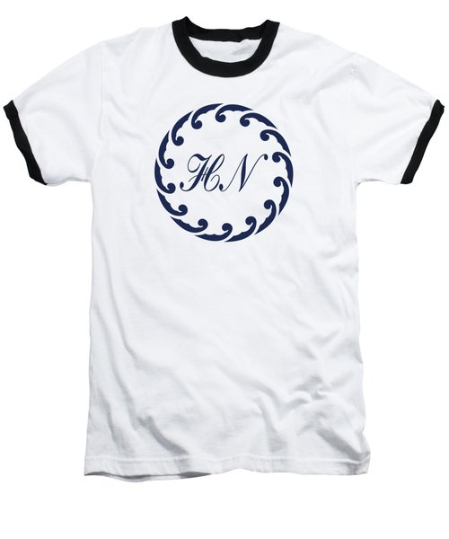 Wave Ring And Cipher In Blue Baseball T-Shirt