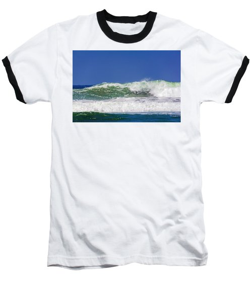 Wave Rolling To The Beach Baseball T-Shirt