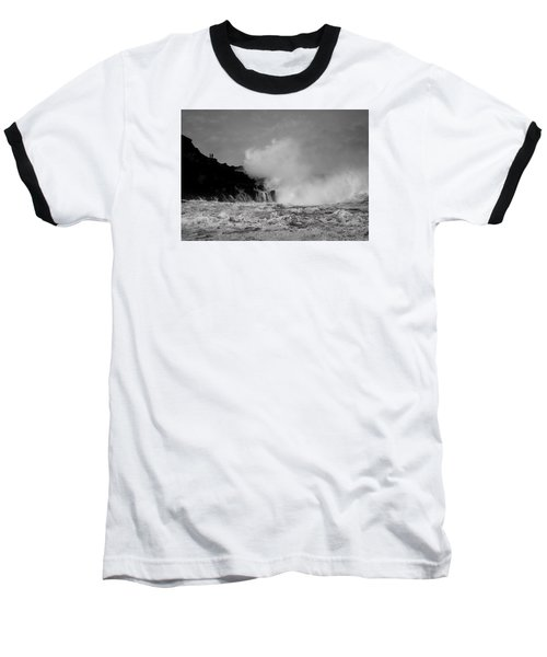Wave Watching Baseball T-Shirt by Roy McPeak