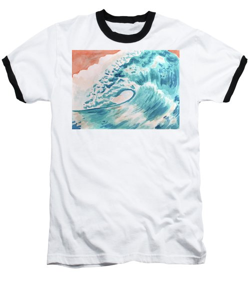 Wave Baseball T-Shirt by Whitney Morton