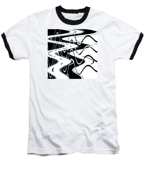 Baseball T-Shirt featuring the digital art Wavelengths by Adria Trail