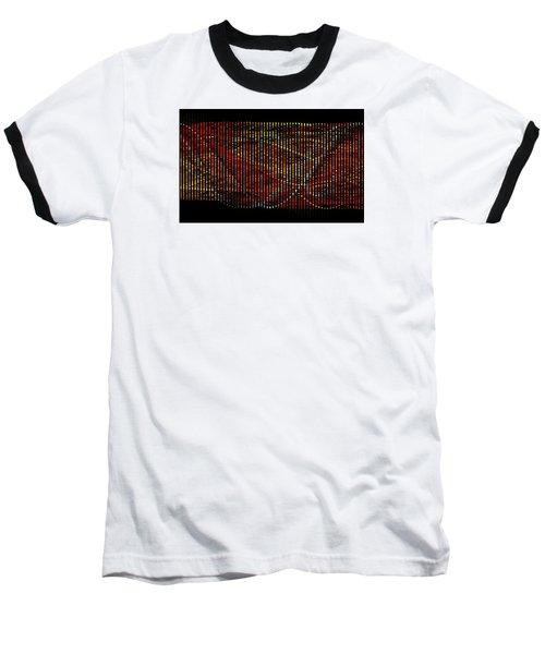 Baseball T-Shirt featuring the digital art Abstract Visuals - Wavelengths by Charmaine Zoe