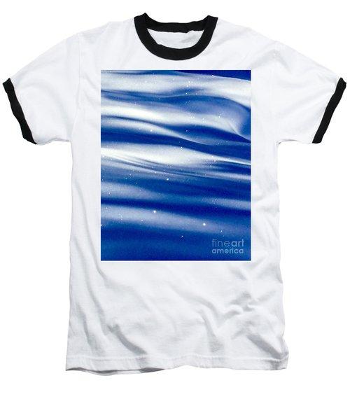 Waves Of Diamonds Baseball T-Shirt by Jennifer Lake
