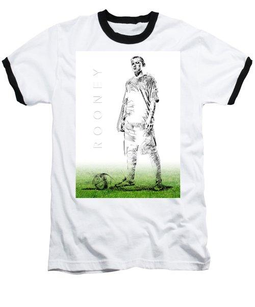Wayne Rooney Baseball T-Shirt by ISAW Gallery