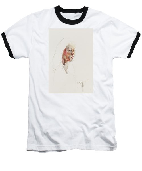 Baseball T-Shirt featuring the painting Wc Mini Portrait 3             by Becky Kim