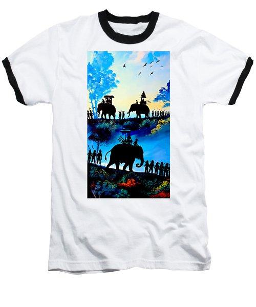 We March At Sunrise  Baseball T-Shirt by Ian Gledhill