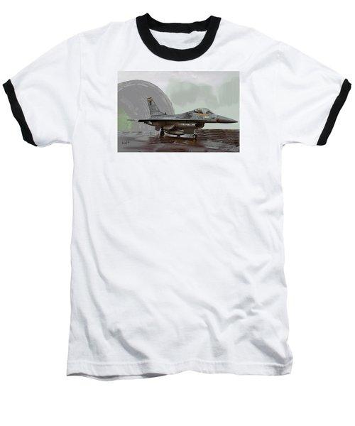 Baseball T-Shirt featuring the digital art Weather Day by Walter Chamberlain